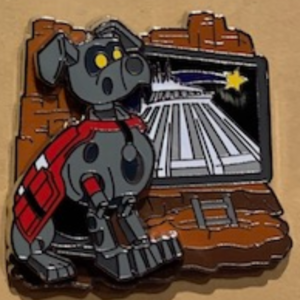 Space Mountain Dog - FairyTails Event Park Pets pin