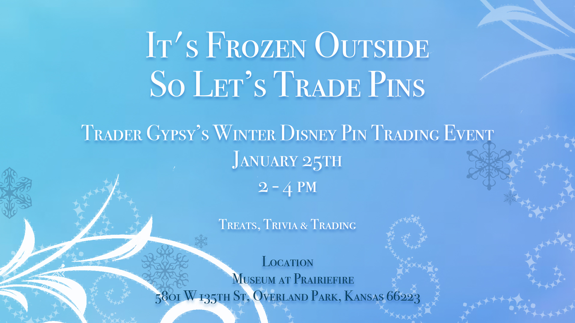It's Frozen Outside So Let's Trade Disney Pins Inside