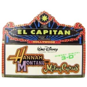 DSF - El Capitan Theatre - Hannah Montana 3-D Marquee pin
