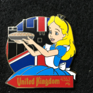 WDW Epcot Food and Wine Mystery 2018 Alice UK pin