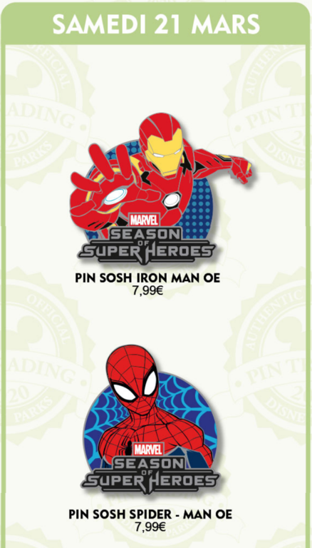 March 21st pin releases