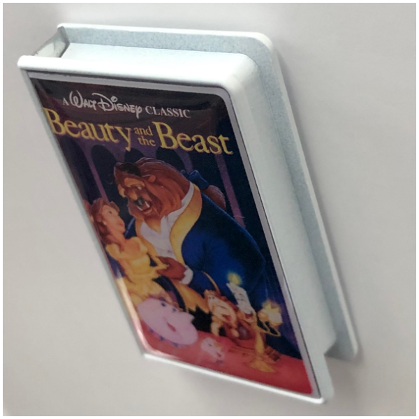 Beauty and the Beast VHS cover pin