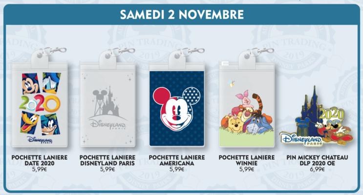Disneyland Paris November 2019 pin releases