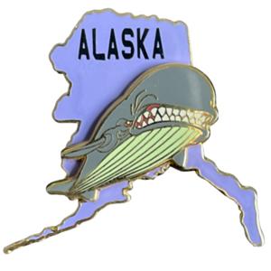 Alaska state pin - State Characters pin