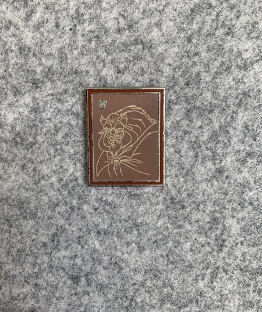 DLR - 2014 Hidden Mickey Series - Chalk Sketches - Beast pin