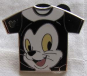 Figaro- Hidden Mickey Shirt WDW  pin