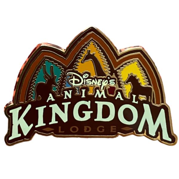 Animal Kingdom Lodge logo with animals pin