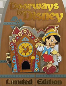 Pinocchio - Doorways to Disney pin