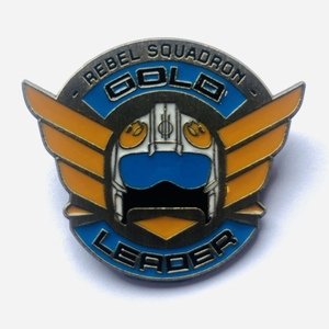 Rebel Squadron Gold Leader pin
