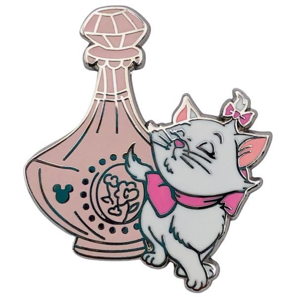broche Marie with pink perfume bottle - Shanghai Pin Trading Fun Day Hidden Mickey 1 of 6
