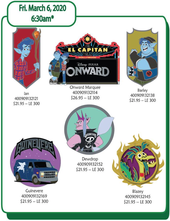 March 6th pin releases