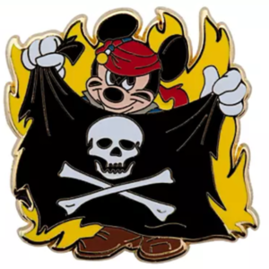 Mickey with pirate flag pin