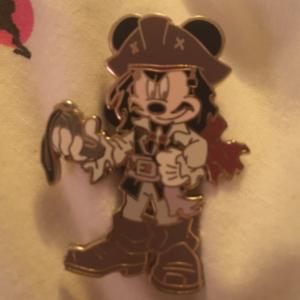 Jack Sparrow Mickey pin pin