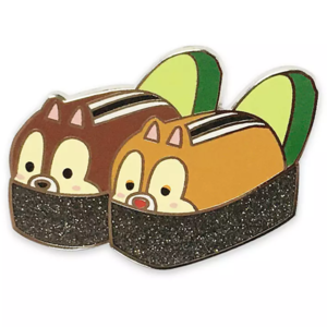 Chip 'n Dale nigiri - Mickey Mouse and Friends Sushi Flair pin