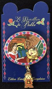 DLP - PTE - Le Reveillon de Belle Event - Belle and Beast with Cogsworth pin