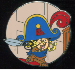 Disney Disguises- Reveal/Conceal - Cogsworth as Guardsman pin