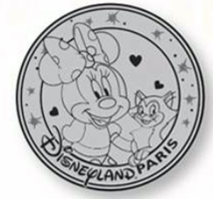 Minnie and Figaro - Medallion pin