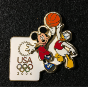 USA 2004 Olympic logo Basketball  pin
