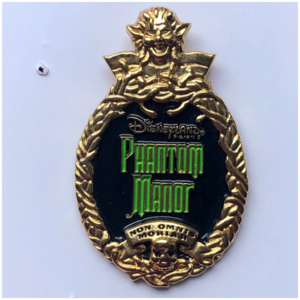 Disneyland Paris Phantom Manor logo pin