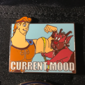 Hercules and Phil - Current Mood pin