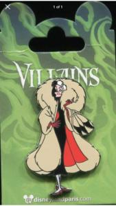 DLP Villains - Cruella De Vil pin