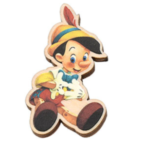 Pinocchio wooden Japan pin