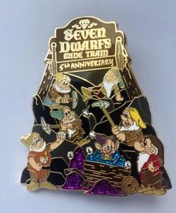 Seven Dwarfs Mine Train 5th Anniversary pin