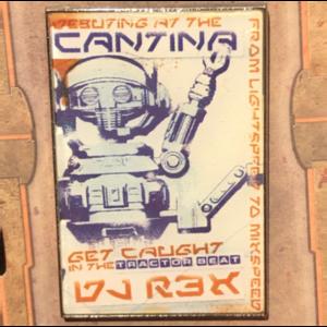 DJ R3X debuting at the Cantina pin