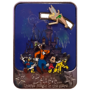 "DLR - Tinker Bell Slider - ""Believe... There's Magic in the Stars"" pin"