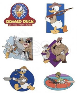 Donald Duck on the Front Line Series pin