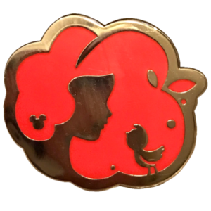 Hidden Mickey - Princess Profile Silhouettes (5 of 5) - Snow White in Red pin