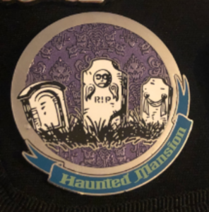 Haunted mansion gravestones pin