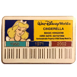 Cast Exclusive - WDW Cast ID Badge/Card - Cinderella pin
