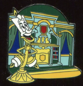 WDW - New Fantasyland - Beauty and the Beast Mystery Collection - Lumiere at Enchanted Tales with Belle pin
