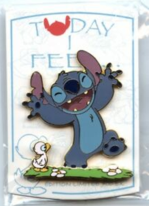 Today I Feel...Content - Stitch pin