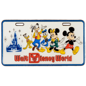 Mickey Mouse and Friends License Plate - Walt Disney World 50th Anniversary pin