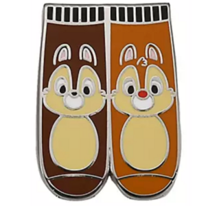 Chip and Dale - Magical Mystery pins series 18 - character socks pin