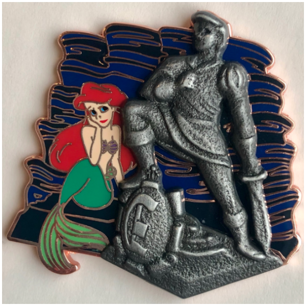 Ariel with Eric statue passholder exclusive pin