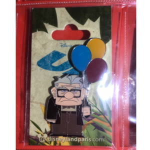 Carl with balloons  pin