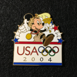 USA 2004 Olympic logo Torch pin