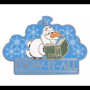 "Olaf ""snow it all"" pin"