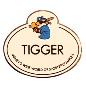 Wide World of Sports Name Tag - Tigger - Cast Exclusive pin