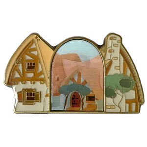 Loungefly - Lenticular Enamel Pin - Disney Princess Snow White - Seven Dwarfs' Cottage pin