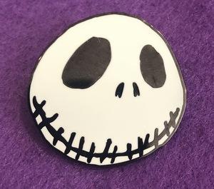 Smiling Jack Skellington pin