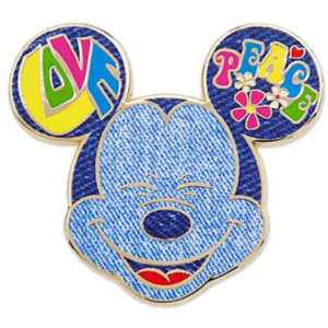 Mickey Mouse love peace face pin