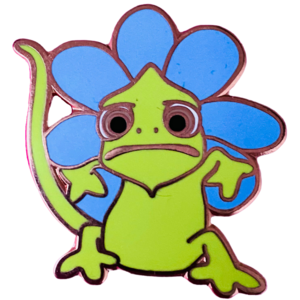 Pascal dressed as a flower - Fantasy pin