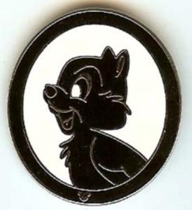 Chip - Hidden Mickey Silhouette pin