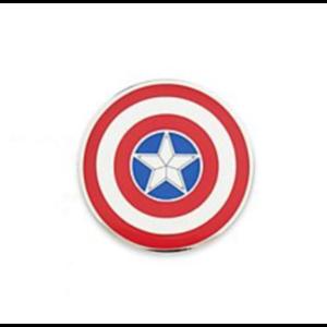 Captain America's shield pin