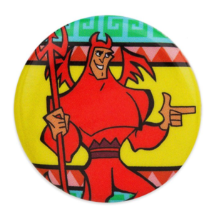 Kronk devil badge/button pin