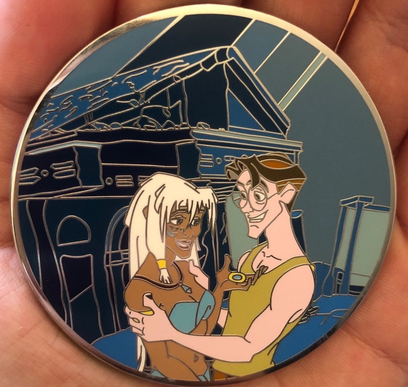 """A Grade """"A"""" Atlantis pin, no flaws, exactly as the artist imagined"""